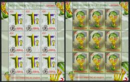 Macedonia 2014 Football, Soccer, World Cup Brazil, Brazuca, Mini Sheet Of 8 Sets + Labels MNH - Macedonia
