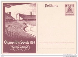 1936 - Jeux Olympiques-  Allemagne Berlin - Stade Olympique - Entier Neuf - Summer 1936: Berlin