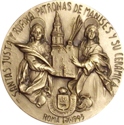 ESPAÑA. MEDALLA DEL BEATO VICENTE VILAR DAVID. 1.995. CON METACRILATO. MEDAILLE ESPAGNE. SPAIN MEDAL - Profesionales/De Sociedad