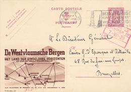 PUB.N° 437 - De Westvlaamsche Bergen - FR/NL - ECRIT Et OBLITERE - Beaux Cachets Bruges/Brugge - Stamped Stationery
