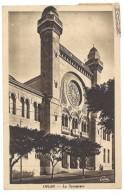 Cpa Algérie / Oran - La Synagogue ( Postée D'Oujda, Maroc ) - Oran