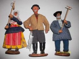 3 Santons - Sculptures