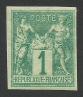 French Colonies, 1 C. 1877, Sc # 24, Mi # 24, MH - Sage