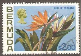 Bermuda 1970 SG 264a $2 Bird Of Paradise Fine Used - Barbados (1966-...)