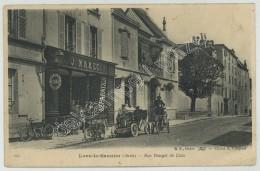 (Lons-le-Saunier) Rue Rouget De Lisle. Ets J. Mazet, Automobiles Et Cycles. - Lons Le Saunier