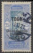 TOGO Poste  91 Grimpeur Cocotier Surcharge Occupation Franco-anglaise Magnifique Cachet LOME 15 Octobre 1921 - Togo (1914-1960)