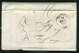FRANCE : LETTRE  DE  TOULOUSE  POUR  FOIX  DU  16  SEPTEMBRE  1847 , A  SAISIR . - 1849-1876: Période Classique