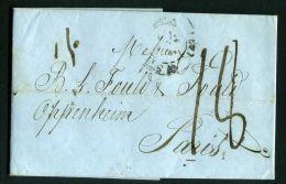 FRANCE : LETTRE  DE  STASBOURG  POUR  PARIS  DU  23  OCTOBRE  1841 , A  SAISIR . - 1849-1876: Période Classique