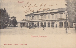 Vercelli - Stazione - Cartolina Viaggiata  (vedi 2 Foto) - Stations Without Trains
