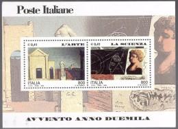 """PIA - ITALIA - 2000 : Avvento Dell´ Anno 2000 """" L´ Arte - La  Scienza   - (SAS Bf 25) - 6. 1946-.. Repubblica"""