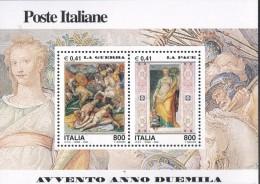 """PIA - ITALIA - 2000 : Avvento Dell´ Anno 2000 """" La  Guerra  -  La  Pace """"   - (SAS Bf 30) - 6. 1946-.. Repubblica"""