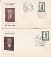 14 DE ABRIL DE 1961 - VISITA DEL PRESIDENTE DE ITALIA GIOVANNI GRONCHI A LA PROVINCIA DE CORDOBA EN ARGENTINA RARISIME 2 - Italien