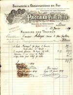 Thématique « POMPES FUNEBRES » - Document Commercial à Entête De Lettre - A Voir – Détaillons Belle Collection  - 19214 - Petits Métiers