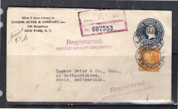 1923 R-entire Eugene Suter > Basel Switzerland (u237)