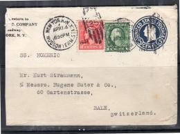 1922 New York Hudson Term. State  > Bale Switzerland (u238)