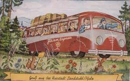 Bus Pop-out Views , Gruss Aus Der Kurstadt Landstuhl/Pfalz , Germany , 1940s - Germania