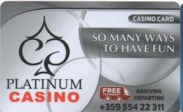 Platinum Casino : Sunny Beach Resort Bulgarie - Casinokaarten