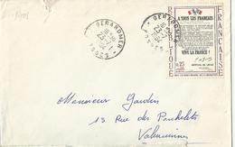 FRANCE Timbre Sur Lettre N° 1408 Appel Du Général De GAULLE - Frankreich