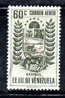 T951 - VENEZUELA  , Yvert N. 243  Usato Posta Aerea . Barinas - Venezuela