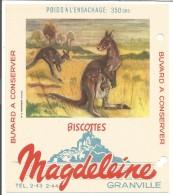 BUVARD BISCOTTES MAGDELEINE - KANGOUROU - Löschblätter, Heftumschläge