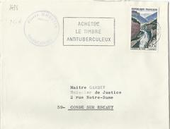 FRANCE Timbre Sur Lettre N° 1438 Gorge Du Verdon - France