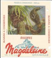 BUVARD BISCOTTES MAGDELEINE - COBRA - Carte Assorbenti