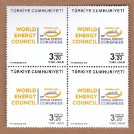 AC - TURKEY STAMP  -  23th WORLD ENERGY CONGRESS MNH BLOCK OF FOUR 09 OCTOBER 2016 - 1921-... Republic