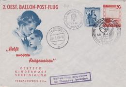 AUTRICHE 1949 ENVELOPPE ILLUSTREE DE WELS THEME ENFANTS ORPHELINS - Par Ballon