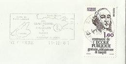 FRANCE Timbre Sur Lettre N° 2167 Jules FERRY à Saint Pierre & Miquelon - Francia