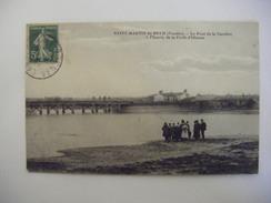 SAINT MARTIN DE BREM LE PONT DE LA GACHERE ENTREE FORET D'OLONNE 1915 ANIMATION CLICHE BOUTAIN - Sonstige Gemeinden