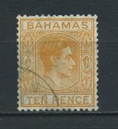 BAHAMAS    1938   10d  Yellow  Orange    USED - 1859-1963 Crown Colony
