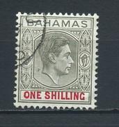 BAHAMAS    1938   1/-  Grey  Black  And  Carmine    USED - 1859-1963 Crown Colony