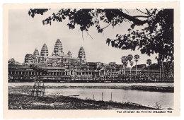 Cpsm Cambodge - Vue Générale Du Temple D'Angkor-Vat - Cambodge