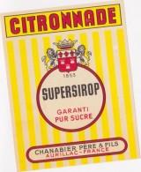 Etiquette  -  SUPERSIROP - CITRONNADE - 1853. Chanabier Père Et Fils à Aurillac - Etiquettes