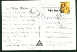 Egypt 2005 Used Postcard Send To Uk (Red Sea) - Lettres & Documents