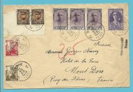 327+341+342 Op Brief Stempel BINCHE - 1931-1934 Kepi