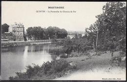 CPA 22 - Quintin, La Passerelle Du Chemin De Fer - Quintin