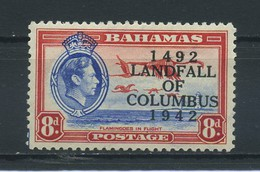 BAHAMAS    1942    450th  Anniv  Of  Landing  Of  Columbus    8d  Ultramarine  And  Scarlet    MH - 1859-1963 Crown Colony