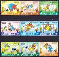 Anguilla 1982 Yvert 456- 64, FIFA World Cup Spain 1982 - MNH - Anguilla (1968-...)