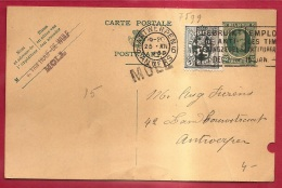 BRFE-7599    PW     Stationsnaamstempel    MOLL                 Verzonden   Via   ANTWERPEN  1930 - Postmark Collection