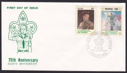 Philippines FDC, 75th Anniversary Scout Movement 1982 (ft116) - Philippines