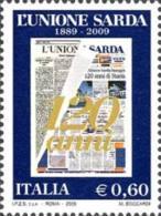 ITALIA REPUBBLICA ITALY REPUBLIC 2009 QUOTIDIANA UNIONE SARDA MNH - 6. 1946-.. Republic