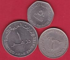 Emirats Arabes Unis - Lot De 3 Monnaies - Emirats Arabes Unis