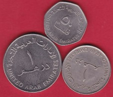 Emirats Arabes Unis - Lot De 3 Monnaies - United Arab Emirates