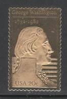 TIMBRE NEUF DES ETATS-UNIS - 250E ANNIVERSAIRE DE LA NAISSANCE DE GEORGE WASHINGTON - TIMBRE OR - George Washington