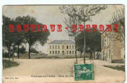 ACHAT DIRECT < 79  COULONGES Sur L'AUTIZE - CARTE COULEUR VOYAGEE 1908 De L'ECOLE Des FILLES - DOS SCANNE - Coulonges-sur-l'Autize