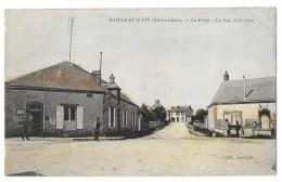 Cpa: 28 BAILLEAU LE PIN (ar. Chartres) La Poste, Rue De La Gare (animée, Rare) - Altri Comuni