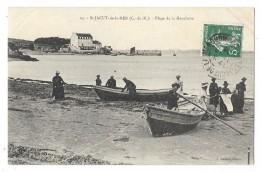Cpa: 22 SAINT JACUT DE LA MER (ar. Dinan) Plage De La Manchette (animée) 1908  N° 24 - Saint-Jacut-de-la-Mer