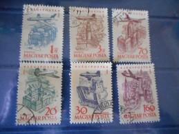 HONGRIE - 6 Timbres Villes De HONGRIE -- Aéro - Oblitérés - 1958