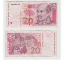 20 KUNA - N°  A 9489611 D - Croatia